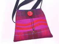 Harris Tweed Handbag (Pink/Red)