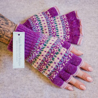 Shetland Wool Fingerless Gloves (4 colours to choose from)