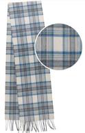 Stewart Blue Dress Pure Cashmere Scarf