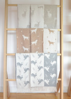 Merino Wool Animal Throws