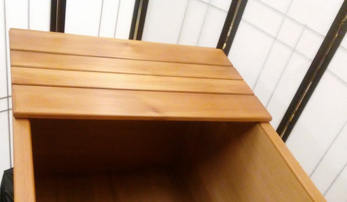 Ofuro tray in Western Red Cedar Wood. Hand made in the USA.