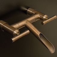 Waterfall wall mount tub filler, Rustic Copper finish, WaterBridge