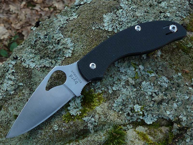 Byrd Tern Slipit Black G-10 Plain Edge Non-Locking Folding Knife