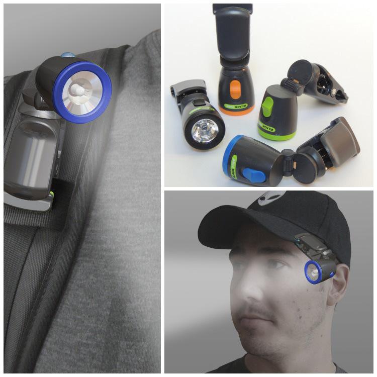 Blackfire Clamplight Mini Flashlight Blue