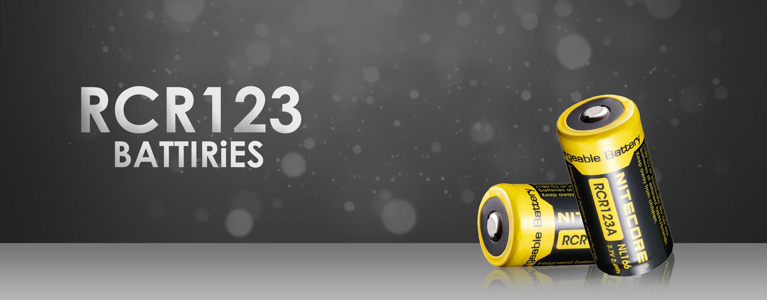 RCR123 Batteries