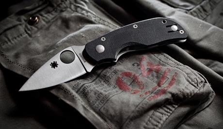 Spyderco Cat G-10 Plain Edge Folding Knife