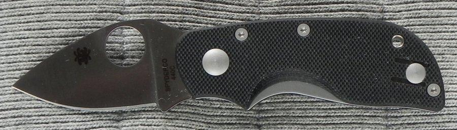 Spyderco Chicago G-10 Plain Edge Folding Knife