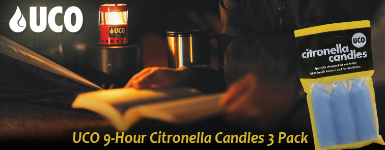 UCO 9-Hour Citronella Candles 3 Pack