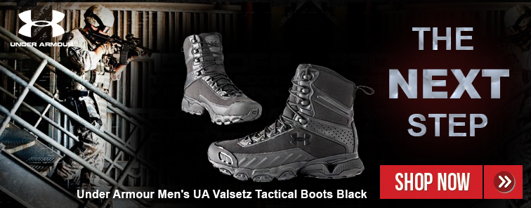 Under Armour Men's UA Valsetz Tactical Boots Black