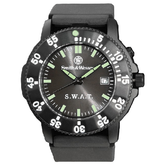 Smith & Wesson SWAT Black Rubber Strap Watch