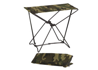 Rothco Folding Camp Stool (R44) This is a sturdy stool that folds nicely to a compact size.