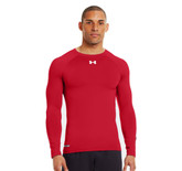 Under Armour Men's HeatGear Sonic Compression Long Sleeve Red LG