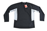 The North Face Men's Flex Crew Long Sleeve TNF Black/High Rise Grey SM