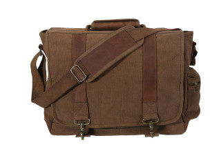 2337b9c699f4 Rothco Vintage Canvas Pathfinder Laptop Bag With Leather Accents ...