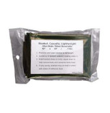 Rothco Casualty Lightweight Blanket Olive Silver Reversible