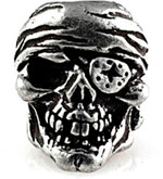 Schmuckatelli One-Eye Jack Skull Bead Pewter