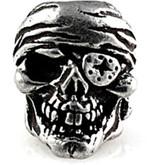 Schmuckatelli One-Eye Jack Skull Bead Pewter