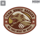 Mil-Spec Monkey Honey Badger PVC Patch