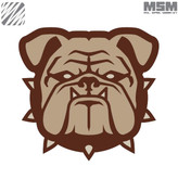 Mil-Spec Monkey Bulldog Head Patch Desert