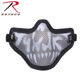 Bravo Tac Gear Strike Steel Half Face Mask Black Skull