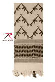 Rothco Crossed Rifles Shemagh Tactical Desert Scarf