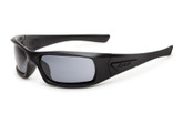 ESS 5B High Impact Sunglasses Black Frame Smoke Gray Lenses