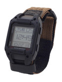 Humvee Recon Tan Nylon Strap Watch Black Face