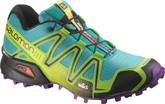 Salomon Women's Speedcross 3 W Technical Trail Running Shoes Teal Blue / Granny Green / Passion Purple