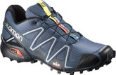 Salomon Men's Speedcross 3 Technical Trail Running Shoes Slate Blue / Black / Deep Blue Size 8