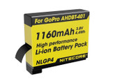 Nitecore NLGP4 GoPro 4 Rechargeable Battery