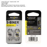 Nite-Ize S-Biner Microlock Stainless Steel Two Pack