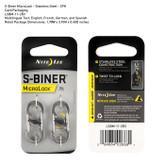 Nite-Ize S-Biner Microlock Stainless Steel Two Pack