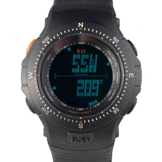 5.11 Tactical Field Ops Watch is built with a high-density polycarbonate case with digital compass, digital date, an audible alarm, a digital chronograph and calculator