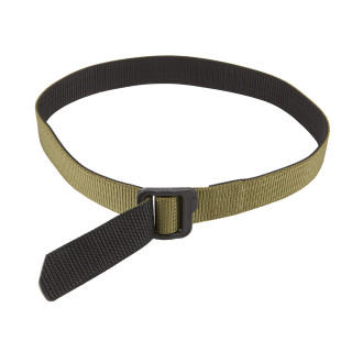 5.11 Tactical Double Duty TDU Belt, consists of two layers of heavy duty nylon webbed with five rows of stitching