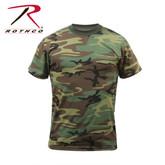 Rothco Camo T-Shirt Woodland Camo