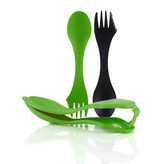 Light My Fire Sporks 'N Case With 2 Sporks Black/Green
