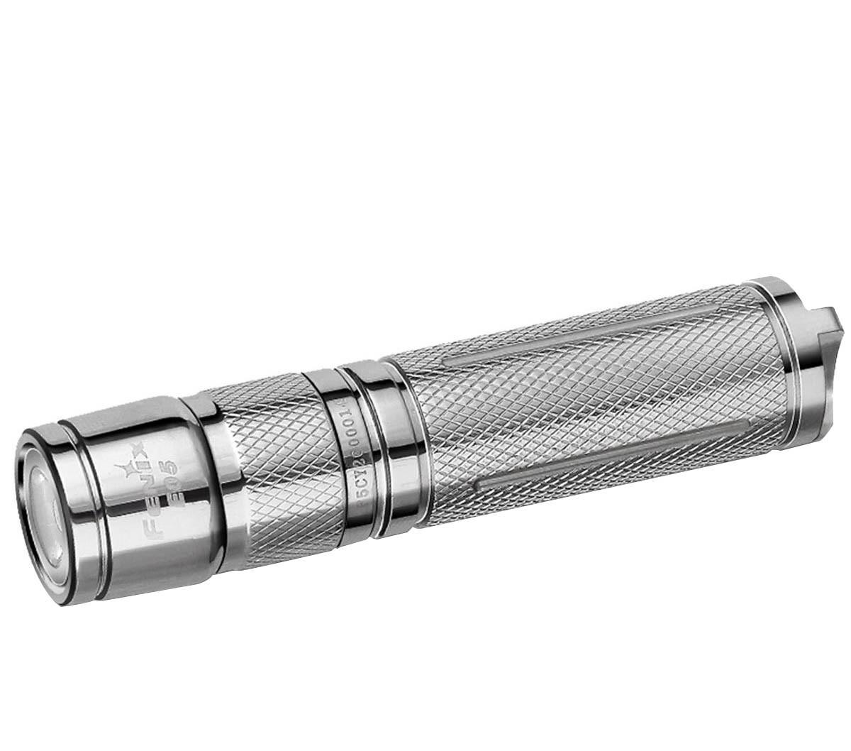 Fenix E05ss Stainless Steel  85 Lumens LED Key Chain EDC Flashlight