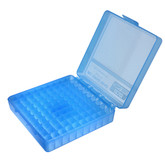 MTM Case-Gard 100 Round Flip-Top .380 ACP-9mm Ammo Box Blue