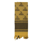 Rothco Gadsden Snake Shemagh Tactical Desert Scarf Sand