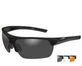 Wiley X Guard Advanced Grey-Clear-Rust Lens Black Frame