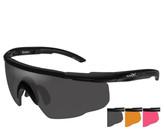 Wiley X Saber Advanced Smoke Grey-Rust-Vermillion Lens Matte Black Frame