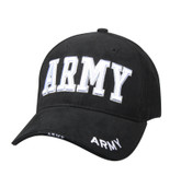 Rothco Deluxe Army Embroidered Low Profile Insignia Cap Black