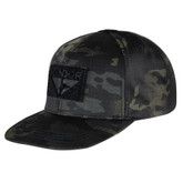 Condor Flat Bill SnapBack Hat with Multicam Black