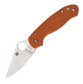 Spyderco Para 3 Lightweight Rex 45 Burnt Orange Folding Knife Sprint Run