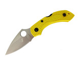 Spyderco Dragonfly 2 Salt Yellow FRN H-1 Plain Edge Folding Knife