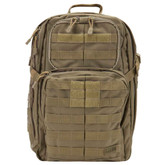 5.11 Tactical Rush 24 Backpack is made of water-resistant 1050-denier nylon, web platforms and YKK self-repairing zippers