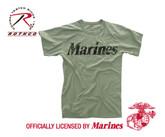 Rothco Vintage Olive Drab Marines T-shirt
