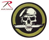 Rothco Military Skull / Knife Patch with Hook Back
