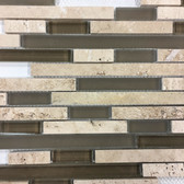 Noce Staggered (Stone & Glass) - CODE: STSGNOC