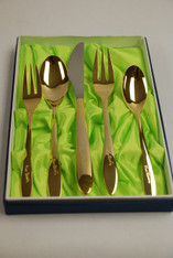 Pierre Cardin Flatware 5pc Gold